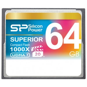 CF Silicon Power  64GB 1000x Superior SP064GBCFC1K0V10