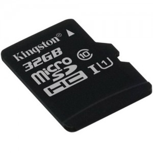 MicroSD 32GB  Kingston Class 10 UHS-I 45 MB/s с адаптером