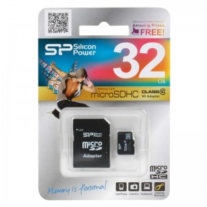 MicroSD 32GB  Silicon Class 10 SP032GBSTH010V10-SP