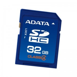 SDHC 32GB  A-Data Class 4 ASDH32GUI1CL10-R
