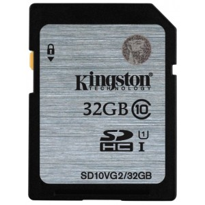 SDHC 32GB  Kingston Class 10  UHS-I  45MB/s SD10VG2/32GB
