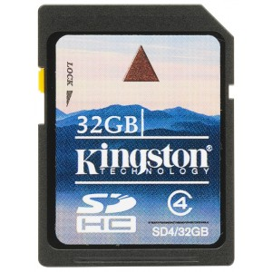 SDHC 32GB  Kingston Class 4 SD4/32GB