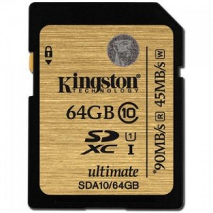 SDXC 64GB  Kingston Class 10 UHS-I Ultimate 90/45 Mb/s SDA10/64GB