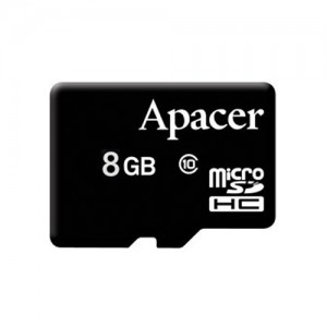 MicroSD  8GB  Apacer Class 10 Read up to 85MB/s +SD адаптер AP8GMCSH10U5-R