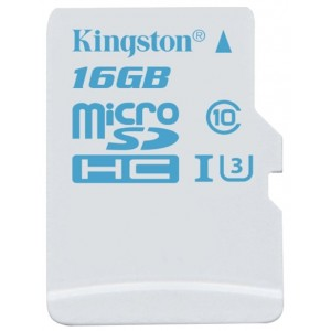 MicroSD 16GB  Kingston Class 10  UHS-I U3 for Action Cameras 90MB/s SDCAC/16GBSP
