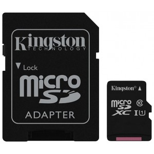 MicroSDXC 256GB Kingston Class 10 UHS-I 45MB/s SDC10G2/256GB