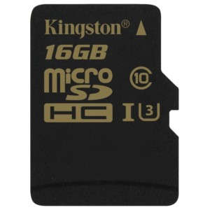 MicroSD  16GB  Kingston Class 10 UHS-I U3 Gold Series SDCG/16GBSP