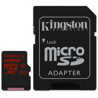 MicroSD  128GB  Kingston Class 10 UHS-I U3 SDCA3/128GB