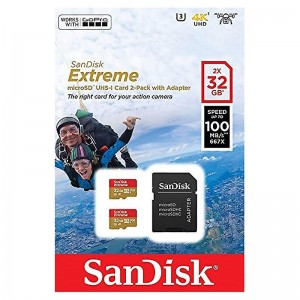MicroSD  32GB  SanDisk Class 10 Extreme Sports Cameras UHS-I A1 U3 SDSQXAF-032G-GN6AT