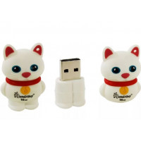 USB  32GB  Smart Buy  Wild series  Котёнок  белый
