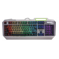 Клавиатура Defender Stainless Steel GK-150DL RU RGB Silver USB